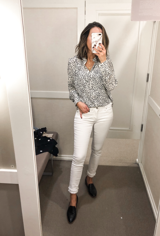 60111be58788c Loved this blouse and it would have come home with me if I already didn t  have one almost identical to it from a few years ago (also from LOFT). Fits  tts.